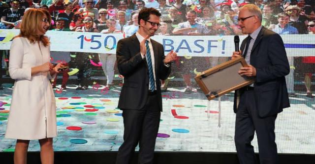 150 lat BASF -Katarzyna Dorywała EIT+ Andreas Gietl BASF Polska Krzysztof Sachs EIT+
