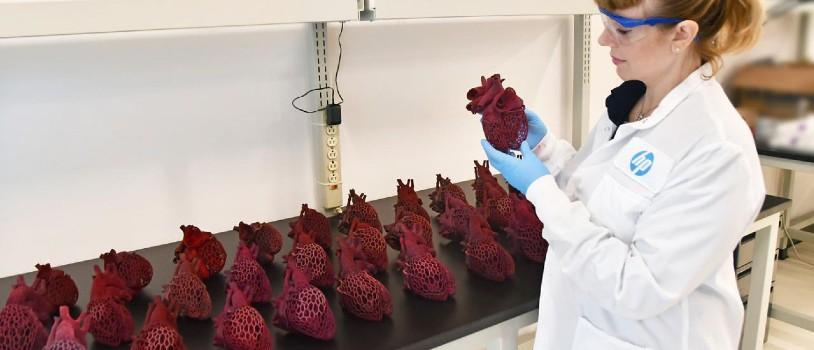 Serce wydrukowane wtechnologii MJF, projekt Amy Karle