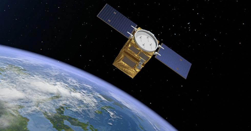 Wizualizacja satelity Astrobus-S, Airbus Defence and Space. Satelita dla THEOS-2 zostanie skonstruowany woparciu okonstrukcję tego satelity. Copyrights: Airbus DS