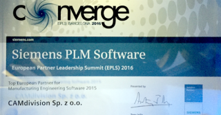 CAMdivision  – Top European Partner for Product Manufacturing Software 2015