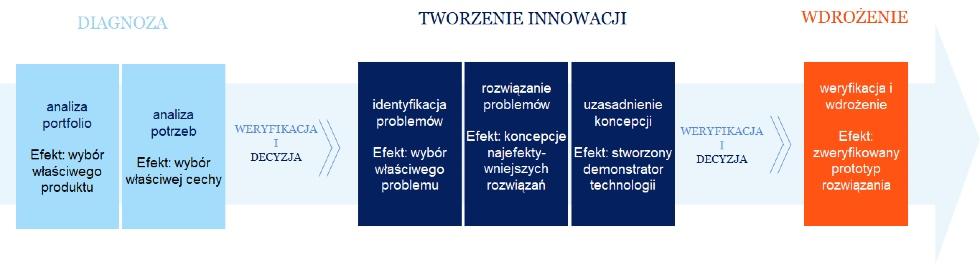 Rysunek 3. Przebieg działań wkompleksowym projekcie rozwojowym