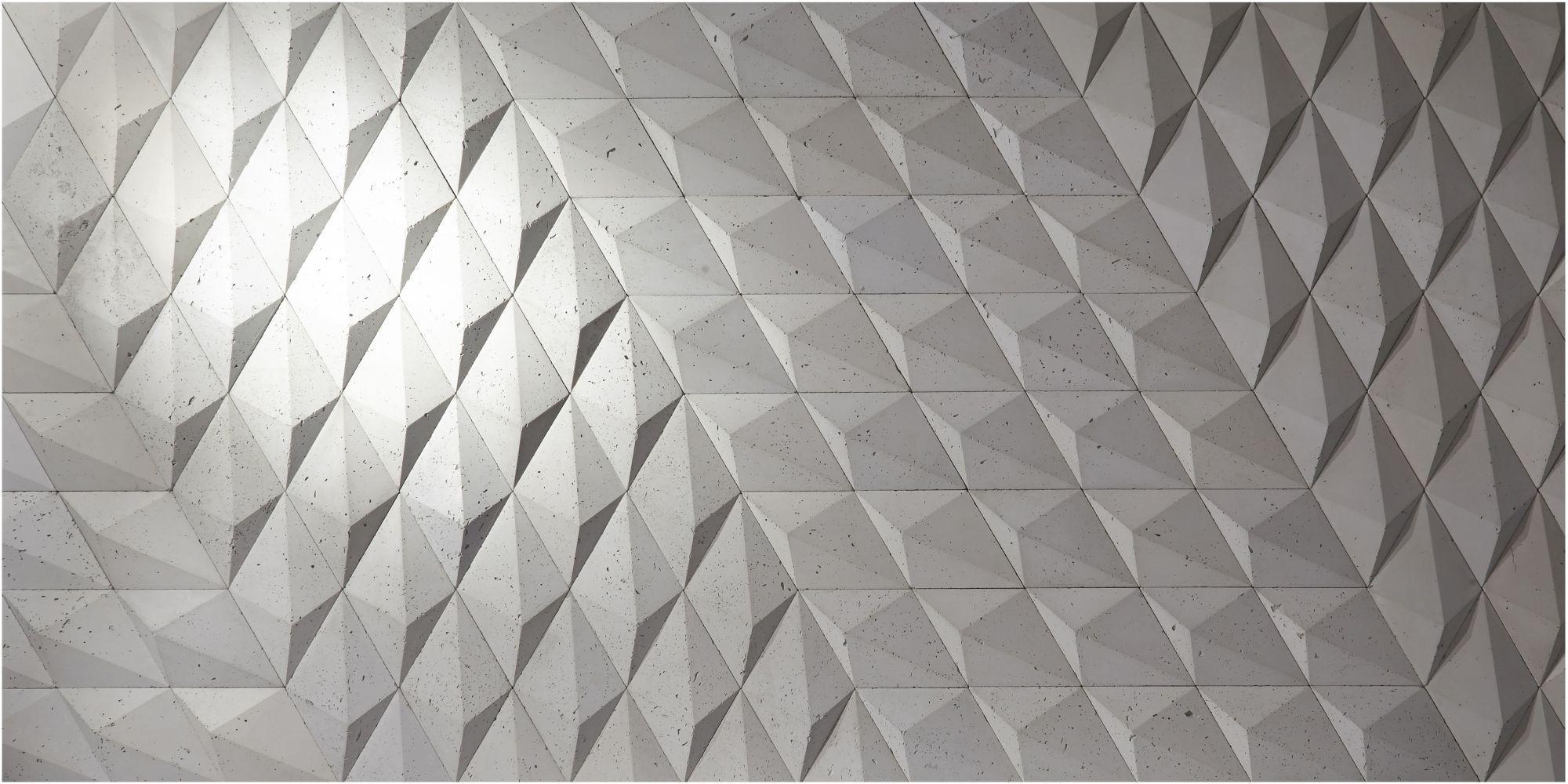 Geometria przestrzenna w betonowych płytkach