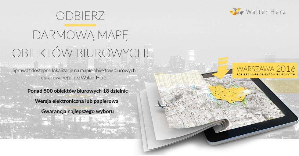 Warszawskie biurowce 2016 / mapa obiektów biurowych