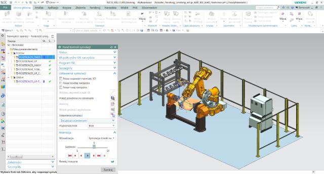 Rys. 4. Symulacja robota ABB – obróbka łopatki wNX CAM Robotics