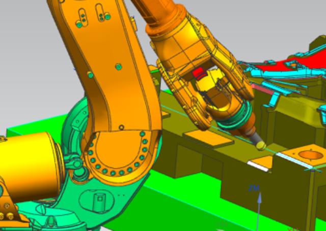Rys. 6. Symulacja obróbki faz wNX CAM Robotics
