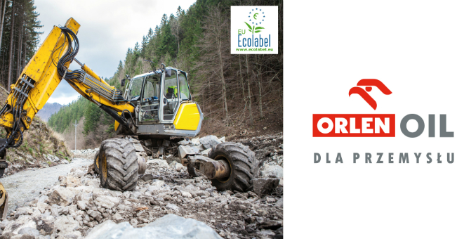 Oleje biodegradowalne ORLEN Oil ze znakiem ekologicznym UE (EU Ecolabel)