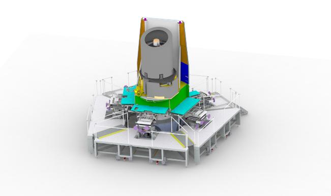 Sener Polska /Zestaw sześciu ręcznych manipulatorów rozmieszczonych dookoła satelity