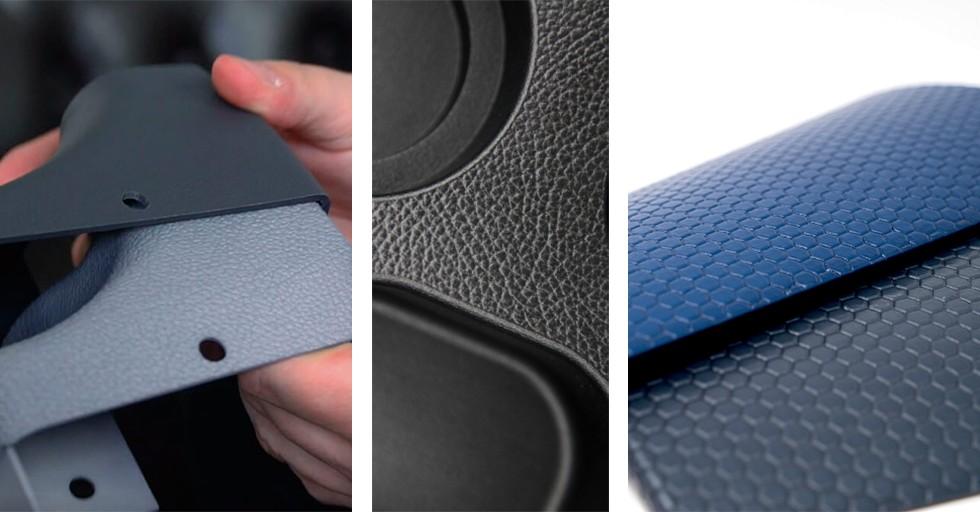Przykładowe wykończenia powierzchni zwykorzystaniem rozwiązań DyeMansion 3D