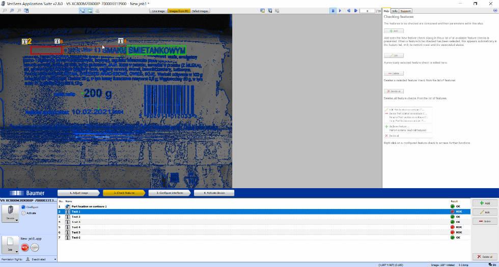 Przykładowy widok programu zOCR OCV /Fot. Baumer