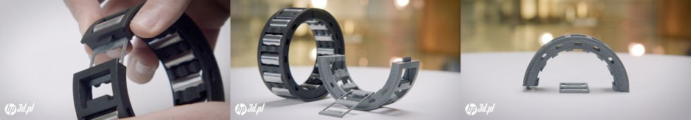 Konstrukcja blokująca Rollertrain wykonana wtechnologii HP MJF 3D wBowman International