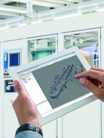 Narzędzie Scene Viewer firmy B&Rwykorzystuje dane CAD do wizualizacji ruchów w3D