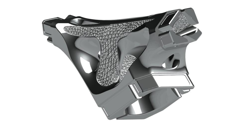Rysunek 1. Detal zzastosowaną strukturą lattice