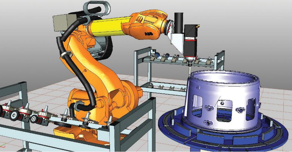 Rys. 2Wizualizacja pracy robota wRobotExpert