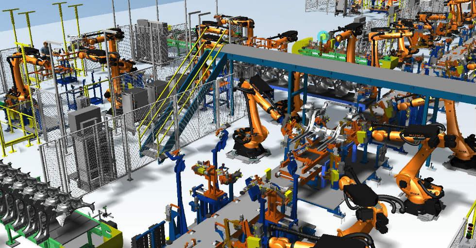 Rys. 3Symulacja procesu produkcyjnego wProcess Simulate