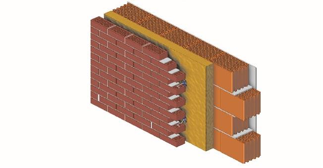 Połączenie materiałów stosowanych do budowy trójwarstwowej ściany zelewacją zcegły klinkierowej zapewnia wysoką izolacyjność cieplną iakustyczną konstrukcji, atakże jej wyjątkową odporność na uszkodzenia izabrudzenia /Fot. CRH Klinkier