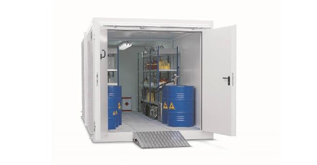 DENIOS – kontenery przeciwpożarowe do składowania cieczy zapalnych