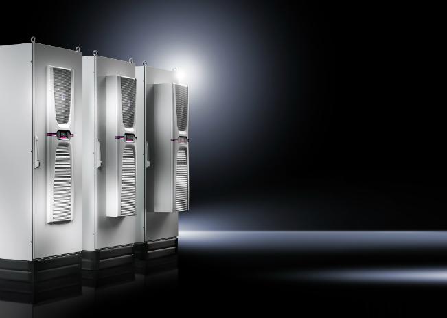 Regulowana moc chłodzenia likwiduje naprężenia termiczne wszystkich komponentów wszafie sterowniczej