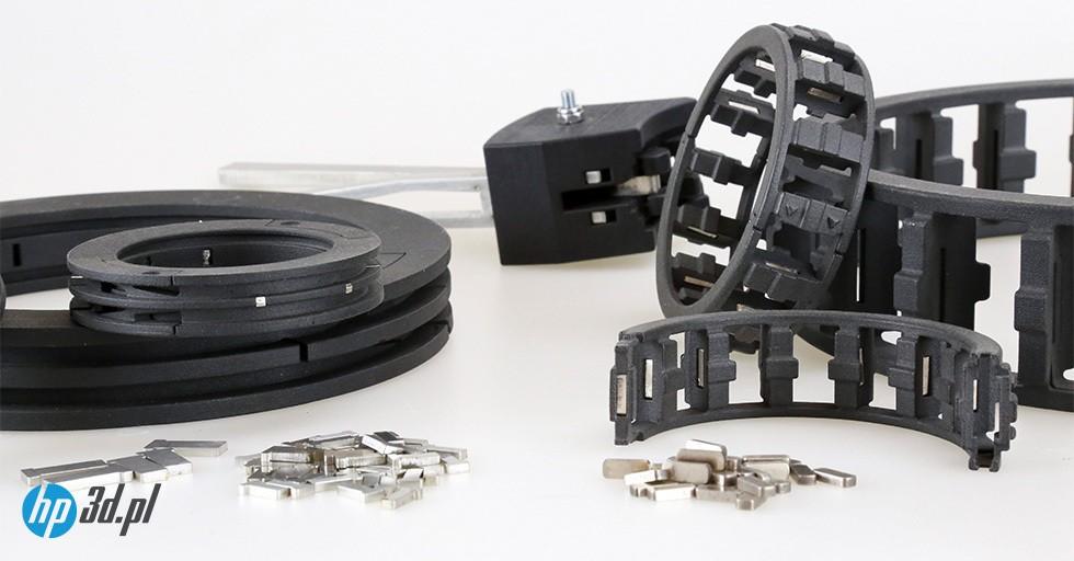 Elementy łożysk produkowane przez Bowman International wtechnologii HP MJF 3D