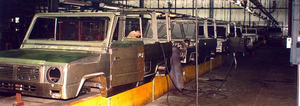 Rok 1992 /Linia produkcyjna ówczesnego Tarpana