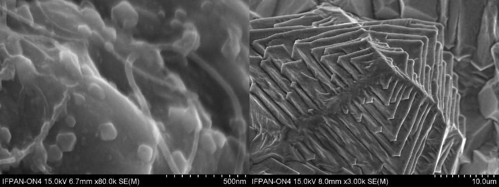 Rysunek 5, 6– Nanokompozyt nikiel -miedź -węgiel