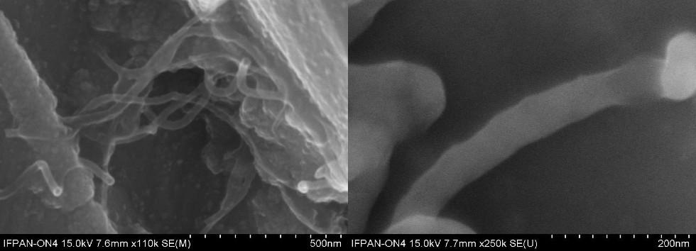 Rysunek 3, 4-Nikiel -nanokompozyt węglowy
