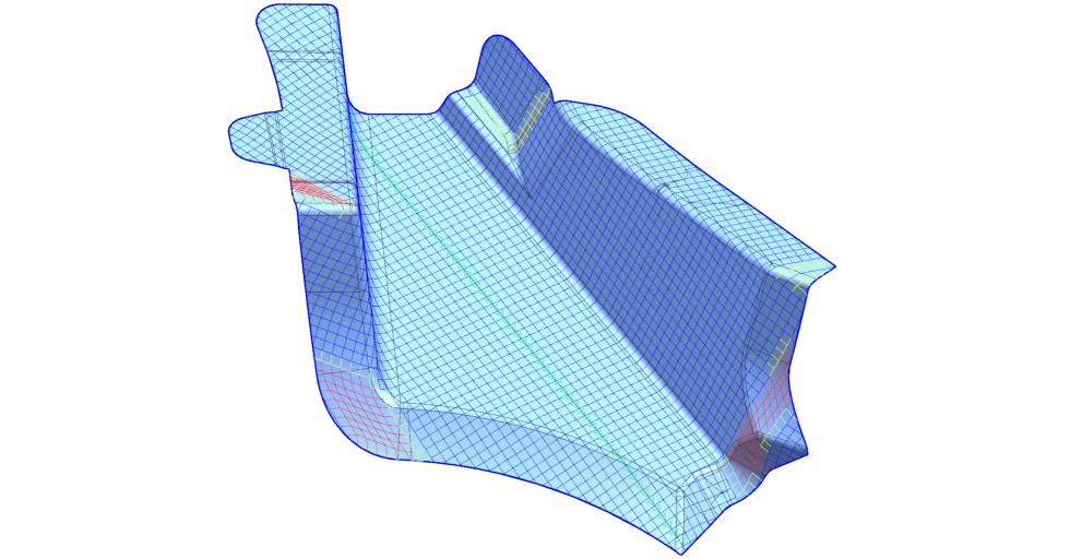 Rysunek 11: Wyniki symulacji deformacji włókna