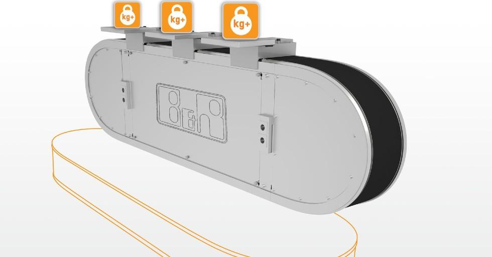 Pionowo montowany system SuperTrak pozwala na zwiększenie obciążenia wózka ioptymalizuje wykorzystanie dostępnej powierzchni podłogi.