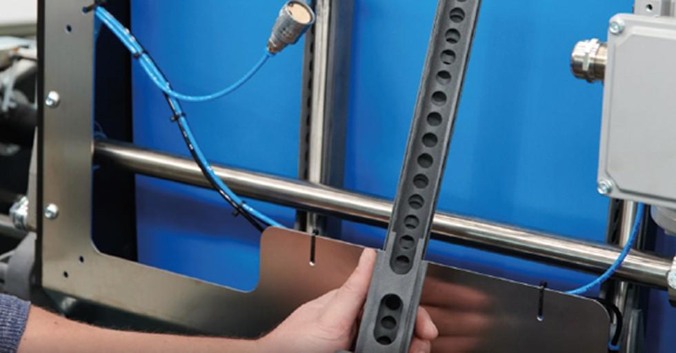 Element maszyny Wave wydrukowany wtechnologii HP MJF 3D