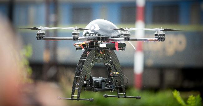 PKP Cargo prezentuje drony w Londynie