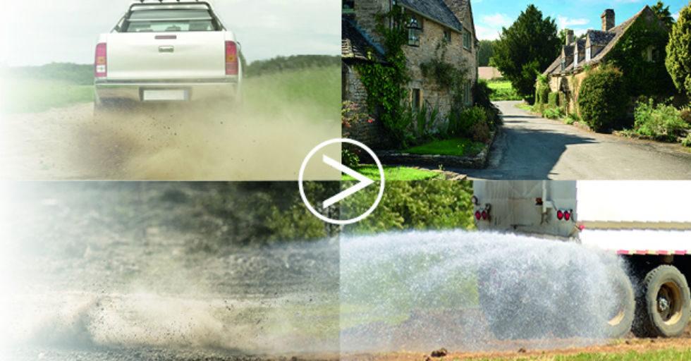 Chlorek wapnia środkiem, który ogranicza pył na drogach, placach i parkingach