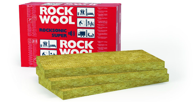 ROCKSONIC SUPER – płyty do izolacji akustycznej ze skalnej wełny