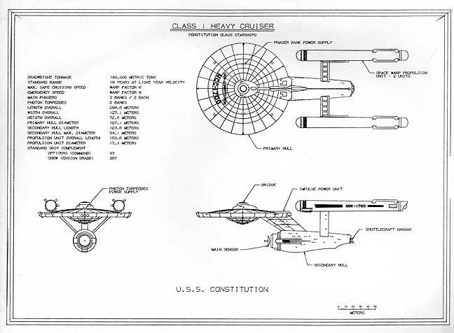 Rysunek Star Trek wUNIGRAPHICS (~1977)