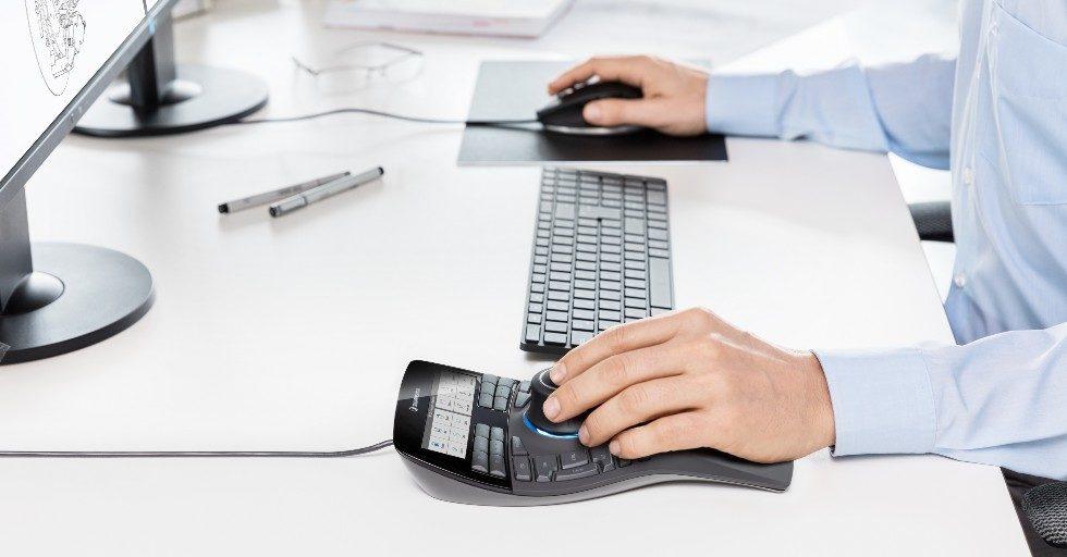 Używanie myszy 3D w aplikacjach CAD prowadzi do zauważalnej poprawy ergonomii