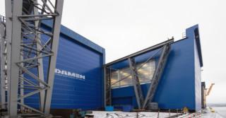 Budowa zadaszenia w hali Damen Shipyards Gdynia zakończona