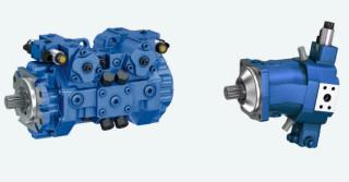 Przekładnia hydrostatyczna składająca się z pompy A24VG oraz silnika A6VM serii 71