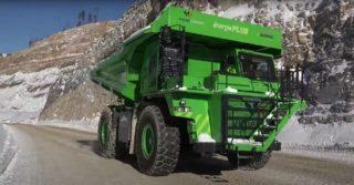 Elektryczna wywrotka o mocy 600 kW do prac w górnictwie