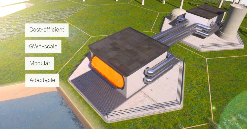 System magazynowania energii elektrycznej i cieplnej