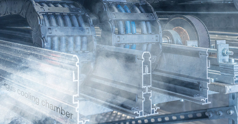 Prawidłowa praca przewodów igus gwarantowana w skrajnych temperaturach od -40 do +60°C