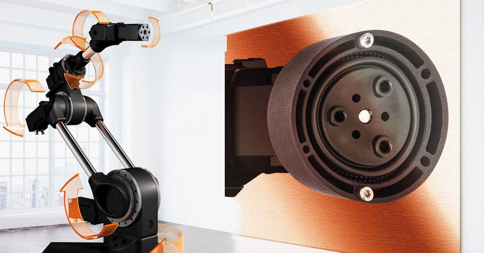 Przekładnia falowa robolink od igus pozwala na budowę niedrogich 6-osiowych robotów
