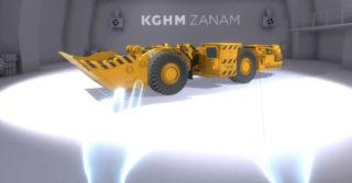 Odkryj ciężkie maszyny KGHM Zanam osadzone w środowisku 3D
