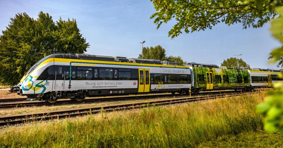 Bombardier pokazuje elektryczny pociąg bez sieci trakcyjnej