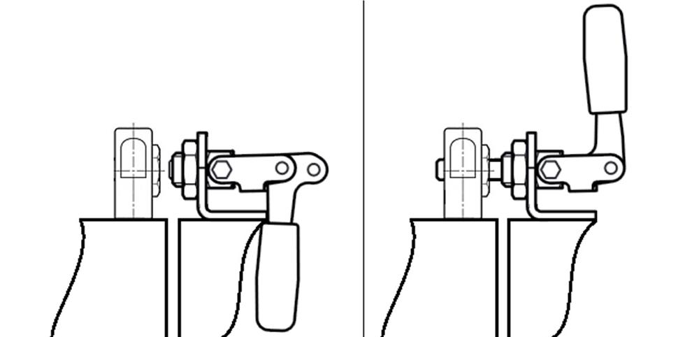 Rys. 4. Ryglowanie za pomocą napinacza suwakowego