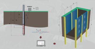 System zabezpieczenia wykopów ścianką segmentową