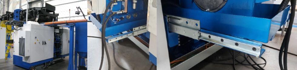 Fot. 3Ciężkie prowadnice GN 2406 zastosowane do wysuwu agregatu hydraulicznego wtokarce UGE 180 N