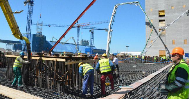 Zakończono największe betonowanie w Europie