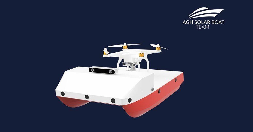 Autonomiczna łódź solarna AGH zbada dno rzek i jezior