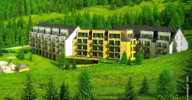 Początek budowy kolejnego budynku Condhotelu Czarna Góra
