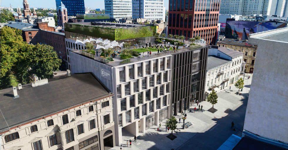 FERN OFFICE i parking wielopoziomowy w przestrzeni OFF Piotrkowska Center w Łodzi
