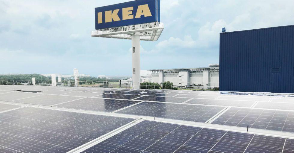 ABB pomaga firmie IKEA wykorzystać energię słońca wSingapurze