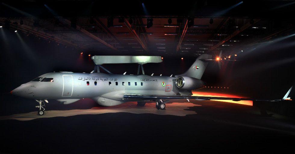 Saab pokazuje samolot do wczesnego ostrzegania i dozoru przestrzeni powietrznej GlobalEye